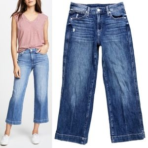 Paige Nellie Culotte Cropped High Waist Jeans